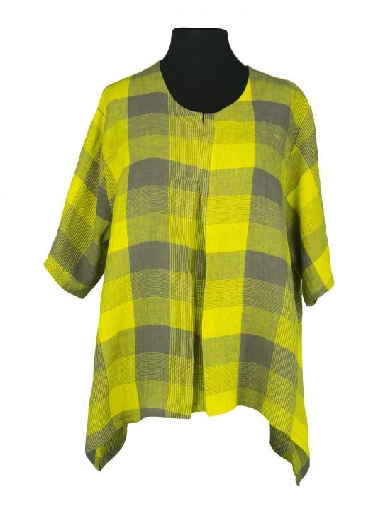 Resonance Shirt Linen Chequers Yellow