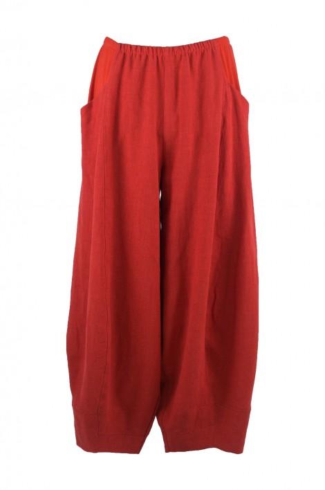 Tibidan Linen Trousers Red