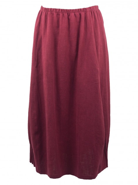 Amadea Linen Skirt Blackberry