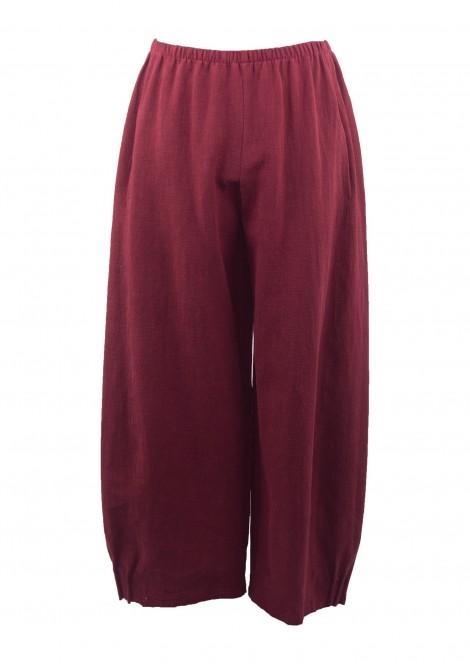 Olanio Linen Trousers Blackberry